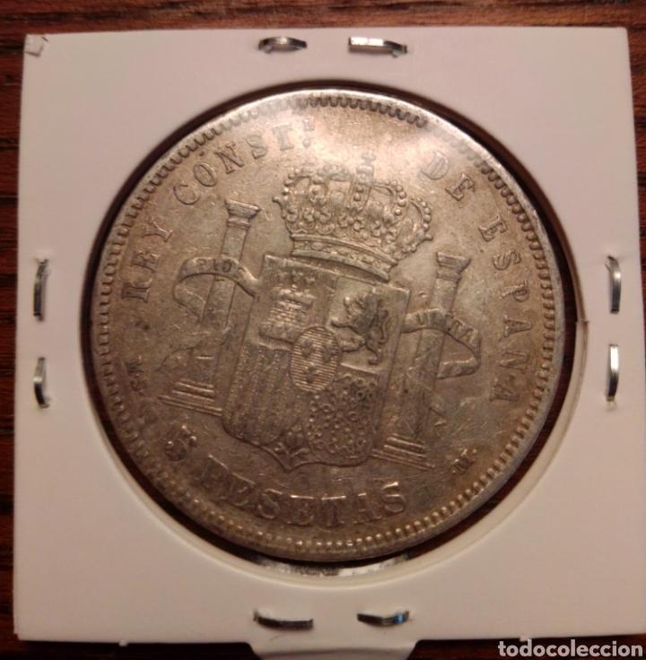 Monedas de España: Moneda 5 pesetas plata 1884 - Foto 2 - 251628510