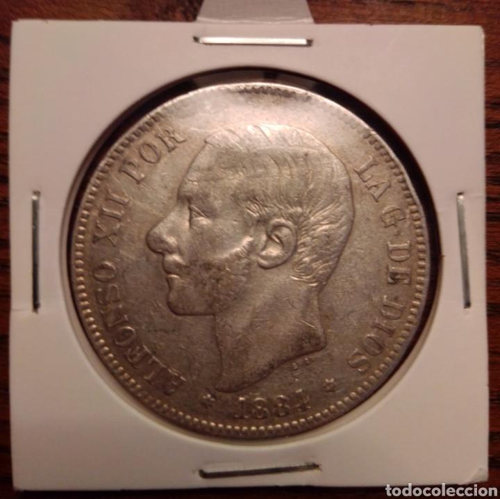 MONEDA 5 PESETAS PLATA 1884 (Numismática - España Modernas y Contemporáneas - De Isabel II (1.834) a Alfonso XIII (1.931))