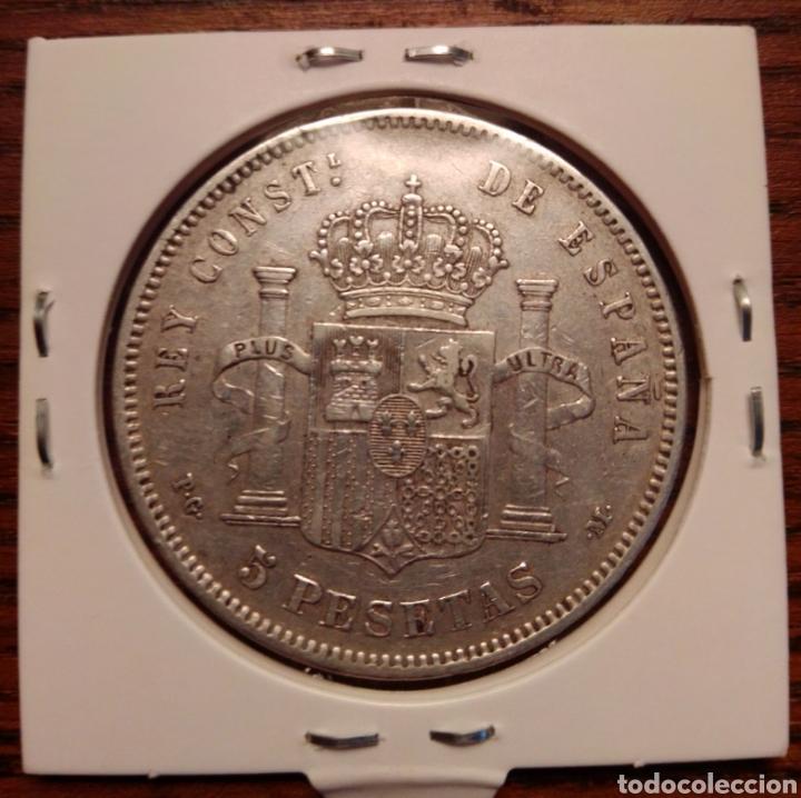 Monedas de España: Moneda 5 pesetas plata 1892 - Foto 2 - 251628910