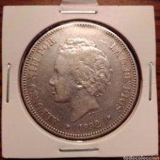 Monedas de España: MONEDA 5 PESETAS PLATA 1892. Lote 251628910