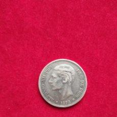 Monnaies d'Espagne: MONEDA DURO DE PLATA 5 PESETAS - ALFONSO VII 1878 - D.E.M*. Lote 251766440