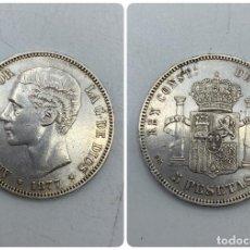 Monedas de España: MONEDA. ESPAÑA. ALFONSO XII. 5 PESETAS. 1877. ESTRELLAS LEGIBLES *18-77*. VER FOTOS. Lote 251782420