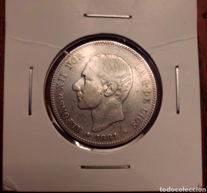 MONEDA 2 PESETAS PLATA 1881 (Numismática - España Modernas y Contemporáneas - De Isabel II (1.834) a Alfonso XIII (1.931))