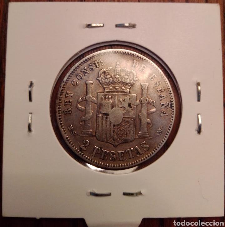 Monedas de España: Moneda 2 pesetas plata 1882 - Foto 2 - 251879860