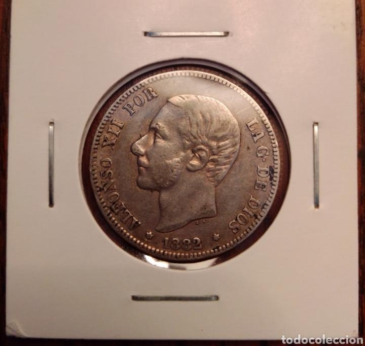 MONEDA 2 PESETAS PLATA 1882 (Numismática - España Modernas y Contemporáneas - De Isabel II (1.834) a Alfonso XIII (1.931))