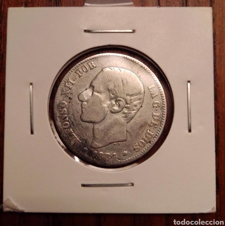 MONEDA 2 PESETAS PLATA 1884 (Numismática - España Modernas y Contemporáneas - De Isabel II (1.834) a Alfonso XIII (1.931))