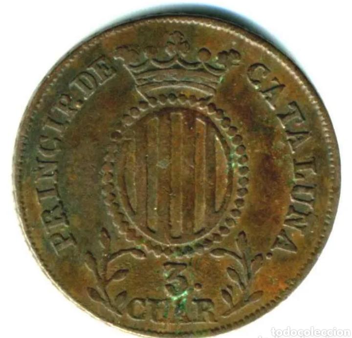 Monedas de España: Moneda 3 cuartos 1839 - Foto 2 - 245218015