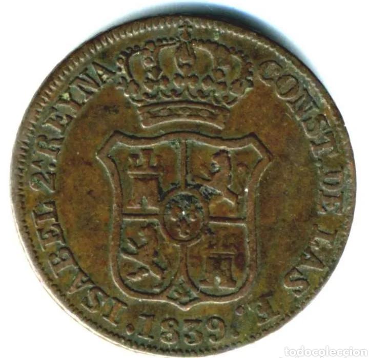 MONEDA 3 CUARTOS 1839 (Numismática - España Modernas y Contemporáneas - De Isabel II (1.834) a Alfonso XIII (1.931))