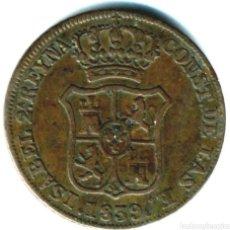Monedas de España: MONEDA 3 CUARTOS 1839. Lote 245218015