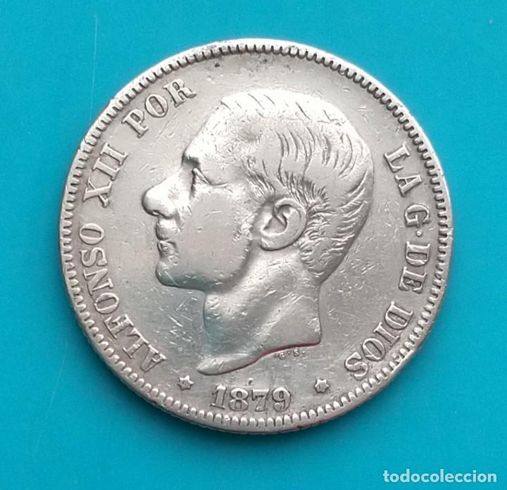 MONEDA DE 2 PESETAS 1879 *18*7 EM-M ALFONSO XII PLATA 835 MILESIMAS (Numismática - España Modernas y Contemporáneas - De Isabel II (1.834) a Alfonso XIII (1.931))