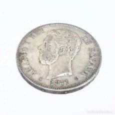 Monedas de España: MONEDA DE PLATA DE CINCO PESETAS AMADEO I 1871 ESTRELLAS 18 - 74 EN BUEN ESTADO. Lote 252201600