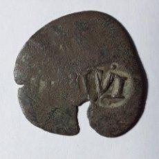 Monedas de España: FELIPE IV RESELLO A VI MARAVEDÍS GRANADA(1636-37). Lote 252284710