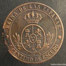 Monedas de España: ISABEL II-1 CÉNTIMO DE ESCUDO-1867-BARCELONA. N110. Lote 252745565