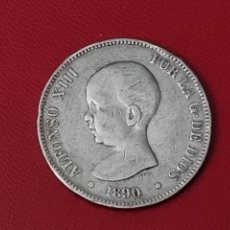 Monedas de España: 5 PESETAS PLATA 1890 LA DE LA FOTO. Lote 253031380