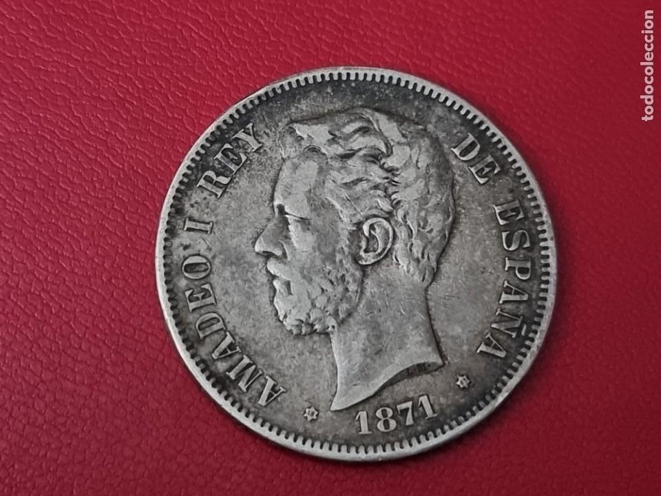 5 PESETAS PLATA 1871 18*71* LA DE LA FOTO (Numismática - España Modernas y Contemporáneas - De Isabel II (1.834) a Alfonso XIII (1.931))