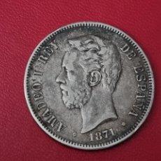 Monedas de España: 5 PESETAS PLATA 1871 18*71* LA DE LA FOTO. Lote 253031925
