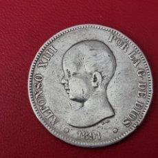 Monedas de España: 5 PESETAS PLATA 1891 LA DE LA FOTO. Lote 253032555