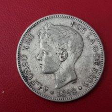 Monedas de España: 5 PESETAS PLATA 1898 18*?* LA DE LA FOTO. Lote 253033675