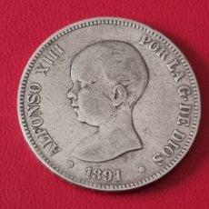 Monedas de España: 5 PESETAS PLATA 1891 LA DE LA FOTO. Lote 253085145