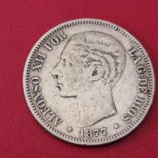 Monedas de España: 5 PESETAS PLATA 1877 LA DE LA FOTO. Lote 253093375