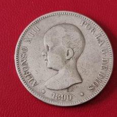 Monedas de España: 5 PESETAS PLATA 1890 LA DE LA FOTO. Lote 253094570