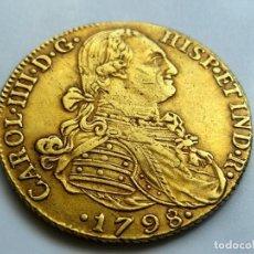 Monedas de España: 8 ESCUDOS 1798 CARLOS IIII NUEVO REINO J J. ORO PESO 27,13G. Lote 253129390