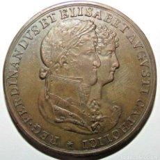 Monnaies d'Espagne: 027 MEDALLA BRONCE 1816 BODA FERNANDO VII APROX 19 GR Y 34 MM. Lote 253136405