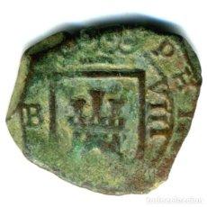Moedas de Espanha: XS- FELIPE IV 1623 BURGOS 8 MARAVEDÍS JS# F-4 3 RECTO. Lote 253139345