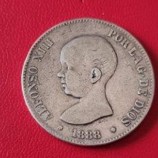 Monedas de España: 5 PESETAS PLATA 1888 LA DE LA FOTO. Lote 253139635