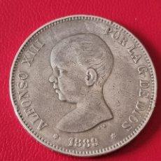 Monedas de España: 5 PESETAS PLATA 1889 LA DE LA FOTO. Lote 253140620