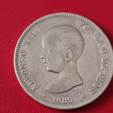 Monedas de España: 5 PESETAS PLATA 1889 LA DE LA FOTO. Lote 253142285