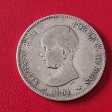 Monedas de España: 5 PESETAS PLATA 1891 LA DE LA FOTO. Lote 253142490
