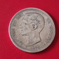 Monedas de España: 5 PESETAS PLATA 1875 LA DE LA FOTO. Lote 253144625