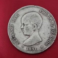 Monedas de España: 5 PESETAS PLATA 1891LA DE LA FOTO. Lote 253228745