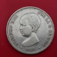 Monedas de España: 5 PESETAS PLATA 1892 LA DE LA FOTO. Lote 253229070