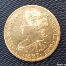 Monedas de España: MONEDA DE ORO ISABEL II AÑO 1827. Lote 253280455