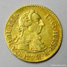 Coins of Spain: CARLOS III, 1772. 1/2 ESCUDO DE LA CECA DE MADRID CON ENSAYADORES: P.J. LOTE 3769. Lote 253516170