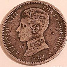Monedas de España: 1 PESETA DE PLATA DE 1904 DE ALFONSO 13. Lote 253748165