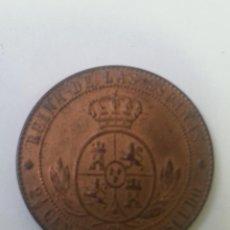 Monedas de España: MONEDA DE DOS CÉNTIMOS Y MEDIO DE ESCUDO. ISABEL II. 1868. DOS FOTOGRAFÍAS.. Lote 253809690