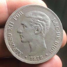 Monedas de España: DURO DE PLATA 5 PESETAS DE ALFONSO XLL 1878. Lote 253841525