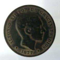 Monedas de España: ALFONSO XII 10 CENTIMOS CU 1877 BARCELONA. Lote 181137728