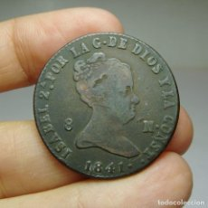 Monedas de España: 8 MARAVEDÍS. ISABEL II. SEGOVIA - 1841. Lote 254259925
