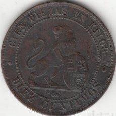 Monedas de España: I REPUBLICA: 10 CENTIMOS 1870. Lote 254267730
