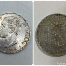 Monedas de España: MONEDA. ESPAÑA. ALFONSO XII. 5 PESETAS. 1876. ESTRELLAS *18-76*. DEM. VER FOTOS. Lote 254292945