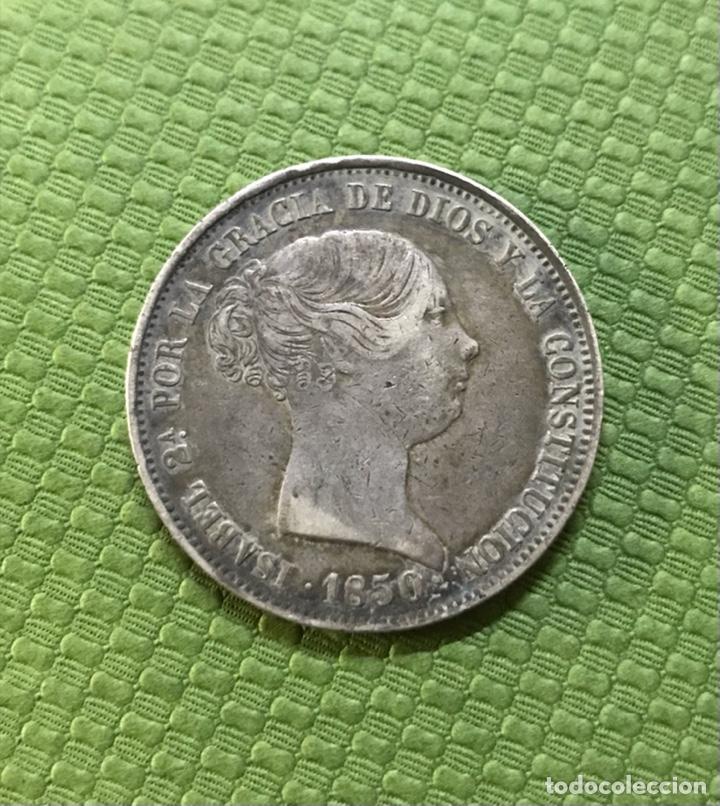 20 REALES DE 1850, MADRID CL. (ESCASA) ORIGINAL (Numismática - España Modernas y Contemporáneas - De Isabel II (1.834) a Alfonso XIII (1.931))