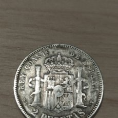 Monedas de España: 2 PESETAS DE 1894, ESTRELLAS 18-XX. PGV, ALFONSO XIII. Lote 254797580