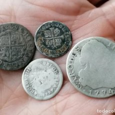 Monnaies d'Espagne: LOTE 4 MONEDAS DE PLATA SIGLO XVIII. Lote 254805700