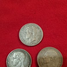 Monedas de España: LOTE DE 3 MONEDAS DE 5 PESETAS:1871;76;82. Lote 254813520