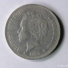 Monedas de España: MONEDA 5 PESETAS - ALFONSO XIII - 1893 *93 - PGV - PLATA - MBC+. Lote 254842930