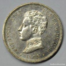 Monedas de España: ALFONSO XIII, 1905. 2 PESETAS DE PLATA 1905 * 19 - 05. CECA DE MADRID-S.M.V. LOTE 3780. Lote 254893405